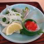 錦パレスホテル - 釜飯セットのこんにゃく刺身