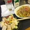 やきとり 助六 - 料理写真:焼うどん&豆腐サラダ