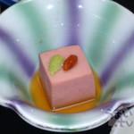 鳥羽グランドホテル - 先付 自家製胡麻豆腐