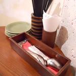 モンスーンカフェ - 卓上