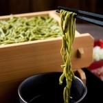 """ゆらり - 国産抹茶を練り込んだ""""茶そば"""""""