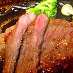 ゆじゅく 金田屋 - 夕食(上州牛のステーキ&地野菜添え)