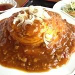 中華料理 金盛園 - 天津飯、麻婆ソース