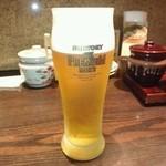 名代とんかつ かつくら - 2013/2最初はビール