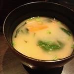 名代とんかつ かつくら - 2013/2京風の味噌汁