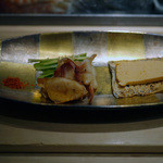 鮨 魯山 - たたみいわしinカラスミ+クリームチーズ他~☆