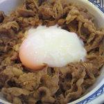 吉野家 - 料理写真:半分食べて、牛皿のせて、牛丼復活