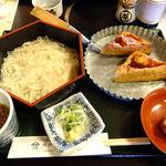 味処山惣 - ランチメニューの舞(白い素麺とほうろく焼と甘味付セット)