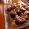 鳥匠 - 料理写真:<鳥匠>しいたけの豚巻、つくね