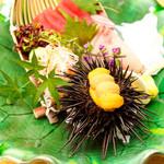 美食 個室・炭火焼・ワイン 縁 - 河岸直送の関アジや関サバなどのブランド魚や銚子産金目鯛など美味しい魚介を厳選してご提供しております。