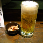 ニシキ屋 - 生ビール450円とお通し200円