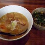 串焼 バードル - 2013/04/16 こってりラーメン+そぼろ丼セット