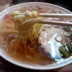 泪橋 - 細麺です。