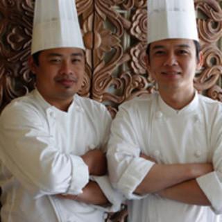 本国から招聘した格式高いタイ人シェフが調理しております。