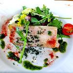 レストラン 樹葉亭 - 赤城どりモモ肉のテリーヌ バスク風(2013年4月)