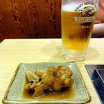 七福 - お通しとビール(奥さん用)