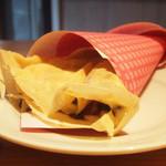 18446837 - ガレットセット(1250円)のカスタード・チョコ・バナナ(+50円)のミニクレープ