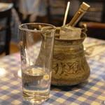 アンカラ - 2013.3 ラク(グラス630円)葡萄のエキスとアニスの実から作った蒸留酒