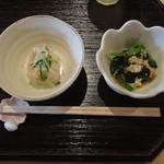 コパン - 魚定食刺身2点盛り自家製さつまあげのおからと小松菜