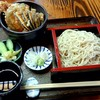 Kawakyuu - 料理写真:サービスセット ミニ天丼 せいろそば付 1050円