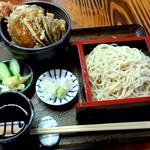 かわ久 - 料理写真:サービスセット ミニ天丼 せいろそば付 1050円