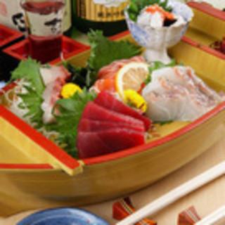 自慢の海鮮料理