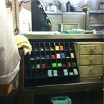 キッチン南海 - レジはオヤジさんの持ち場です!