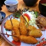藤 - 串カツランチ750円