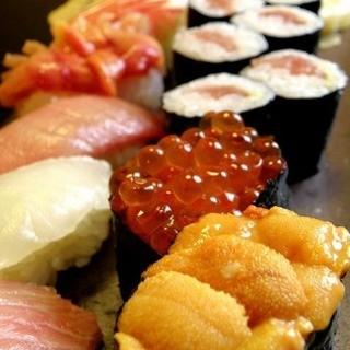 季節の鮮魚を使ったお鮨茨城県でも有名な神社や花巡りの御食事に