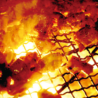 ◆大和肉鶏など国産地鶏の炭火焼き◆