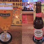 タコタコキング - 生ビール(小)、バドワイザー