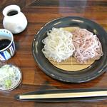 みやび庵 - 料理写真:「桜きりとさらしなのニ色蕎麦きり」(1,100円)