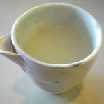 シロクマ食堂 - 白濁蕎麦湯♪