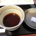 18476018 - 辛汁と天ぷら用の塩