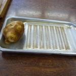 長田うどん - 自分で生姜をすります。