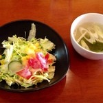ランチ&バー 花菜 - サラダ・スープ
