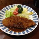 ハチロー - ランチのカツ定食(700円)2013年4月