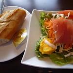 18480920 - サラダとパン