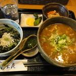 18482012 - カレーうどん+しらす丼(日替わり)980円