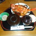 お食事処千家 - 料理写真:金目鯛煮つけ定食。 タレが自慢、大好評の看板メニュー。
