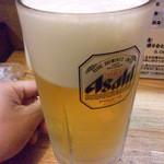 居酒屋 たぬき - 生ビール大 \900