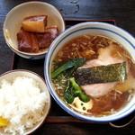 18488968 - ランチ(ラーメン+ご飯+豚角煮)