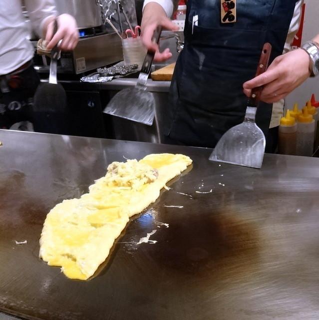 じゅん粋 - 豚平焼680円③チーズのっけて