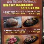 ミート矢澤 - お店の前にドーンっておいてあるメニューです。