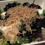 18490698 - 「じゃこと豆腐のサラダ(S)」は大きくて大満足