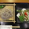 囲炉裏そば処 千ヶ峰 - 料理写真:山菜天ぷらざるそば