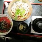 ザ・海峡 秋葉原ヨドバシAKIBA店 - 漬けマグロ丼と冷やしぶっかけうどん【880円】