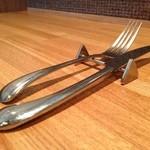 イタリア料理 ドルチェヴィータ - ピカソのカトラリー、使いやすい配慮がされてます。