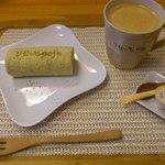 りせっとかふぇ  - 薬膳五色米ロールケーキとコーヒー