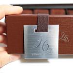 patisserie Le Coeur - 純生ショコラのパッケージ。ゴムで蓋を留めてあります。 '13 2月中旬